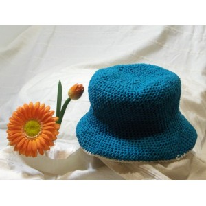 Cappello a Uncinetto Turchese