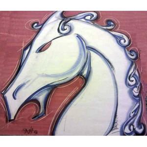 Cavallo su ceramica
