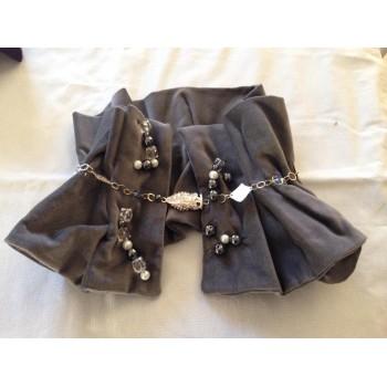 Sciarpa bijoux tessuto e pietre