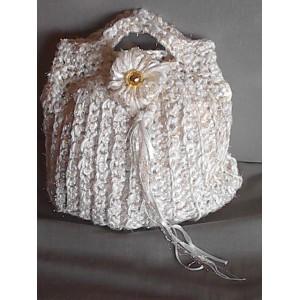 Pochette ad uncinetto in cotone
