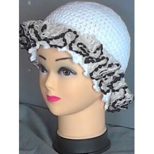 Cappello uncinetto misto lana