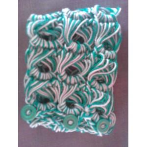 Bracciale in cotone ad uncinetto