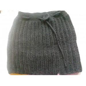 mantella misto lana ad uncinetto