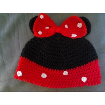 cappello neonato minnie in lana